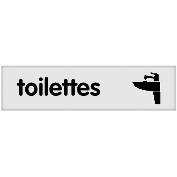signal tique plaque toilettes wc. Black Bedroom Furniture Sets. Home Design Ideas