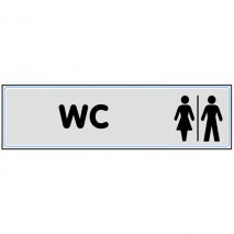 Plaque signaltique WC homme/femme