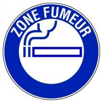Panneau rond - Zone fumeurs