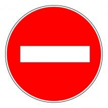 Panneau rond - Sens interdit