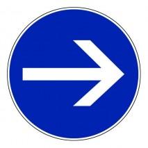 Panneau rond - Sens obligatoire