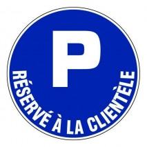 Panneau rond - Parking réservé à la clientèle