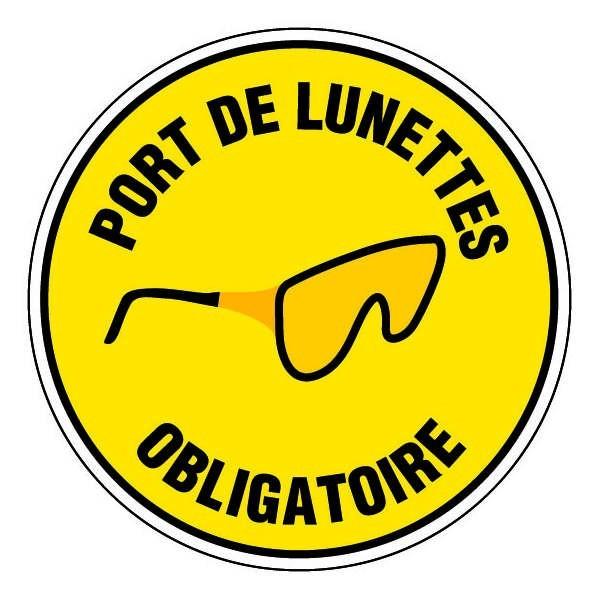 epi panneau rond port de lunettes obligatoire fond jaune. Black Bedroom Furniture Sets. Home Design Ideas