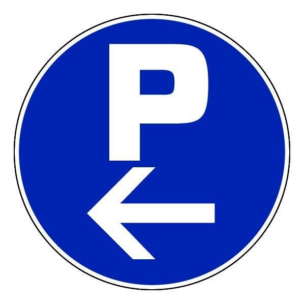 Epi panneau rond parking fl che gauche - Panneau wedi pas cher ...