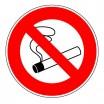 Panneau rond - Défense de fumer (pictogramme)