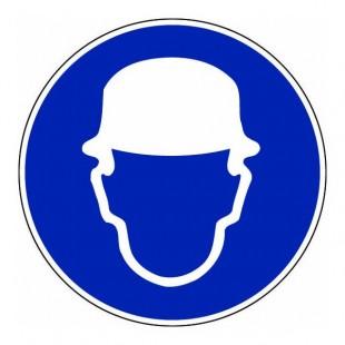 epi panneau rond port du casque obligatoire fond bleu. Black Bedroom Furniture Sets. Home Design Ideas