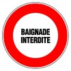 Panneau rond - Baignade interdite