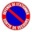Panneau rond - Défense de stationner sortie de secours