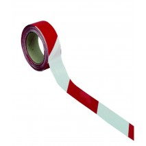 Ruban de chantier rouge/blanc 50mm x 100m