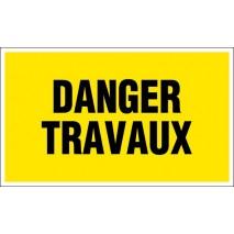 Panneau rectangulaire - Danger travaux