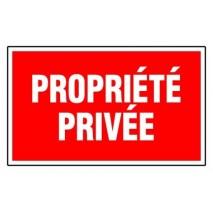 Panneau rectangualire - Propriété privée