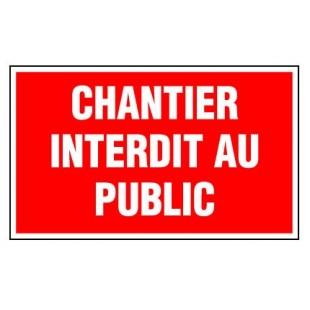 Panneau Interdit Au Public : epi panneau rectangulaire chantier interdit au public ~ Nature-et-papiers.com Idées de Décoration