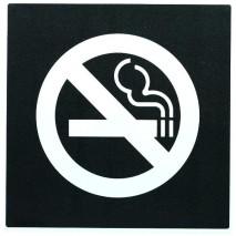 Panneau carré - Pictogramme interdiction de fumer
