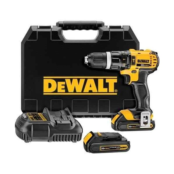 dewalt perceuse visseuse percussion 13 mm compact 18v 1 5ah li ion dewalt. Black Bedroom Furniture Sets. Home Design Ideas