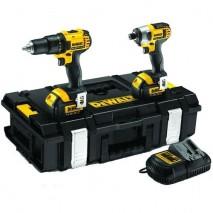 Kit 2 outils 14,4V - 4Ah Li-Ion / Gamme XR DEWALT
