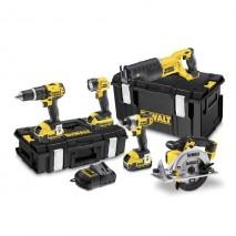 Kit 5 outils 18V - 4Ah Li-Ion / Gamme XR DEWALT