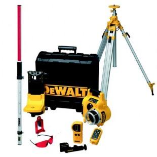 Dewalt kit laser rotatif niveau automatique faisceau horizontal et vert - Niveau laser automatique rotatif ...