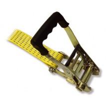 Sangle à cliquet ergonomique 5T 50mm x 8m + rallonge 0.5m PONSA