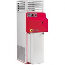 Gamme F70 SOVELOR Chauffages fixes air pulsé livrés prêts à l'emploi avec brûleurs fuel, réservoir et thermostat 70kW