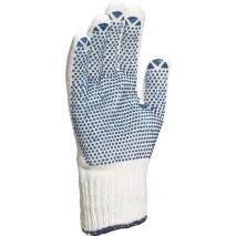 Gants tricot polyester/coton paume picots pvc jauge 7