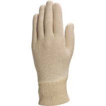 Gants coton interlock léger / bord-côte