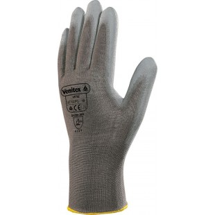 Gants tricot 100% polyester paume enduite pu jauge 13