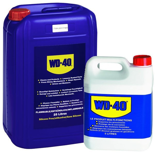 wd 40 wd 40 liquide en bidons 5 litres et bidons 25 litres. Black Bedroom Furniture Sets. Home Design Ideas