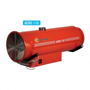 Chauffage suspendu air pulsé brûleur fuel ou gaz - Sovelor Gamme AERO - 3 modèles de 100 à 110 KW