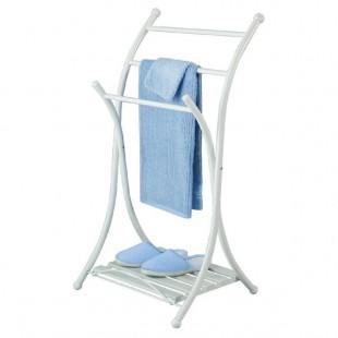 Allibert | porte-serviettes pliable blanc plateau caillebotis amovible