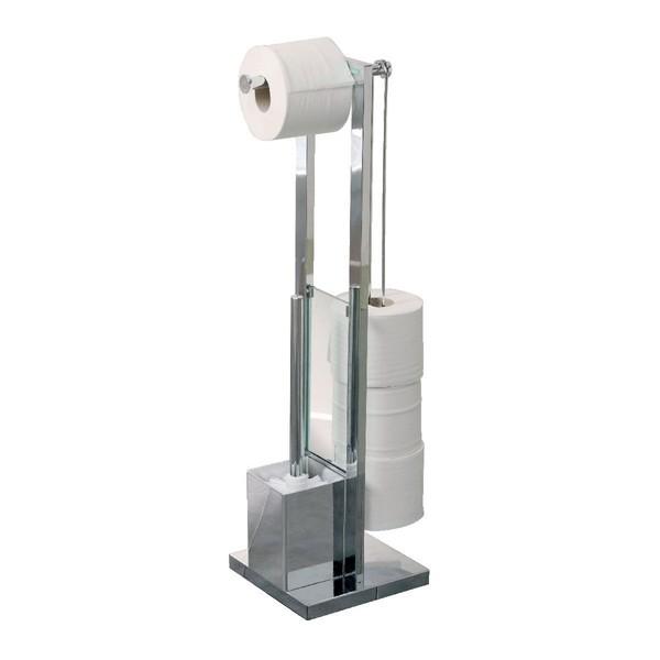 Allibert valet distributeur papier wc finition chrom k 39 re for Valet pour salle de bain