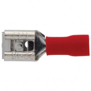 Dhome | 10 clips mixtes pré-isolés rouges Ø 6.35 mm