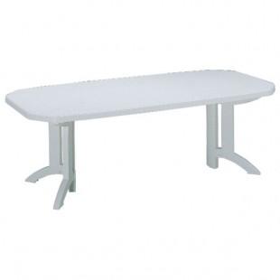 Grosfillex | table de jardin résine blanche à rallonge Vega