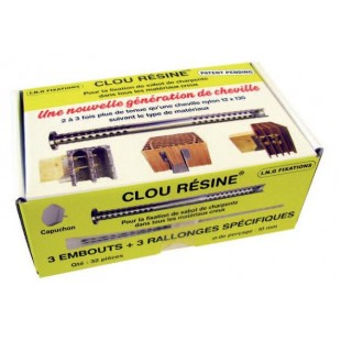 Boîte de 32 clous résine ING pour sabot de charpente