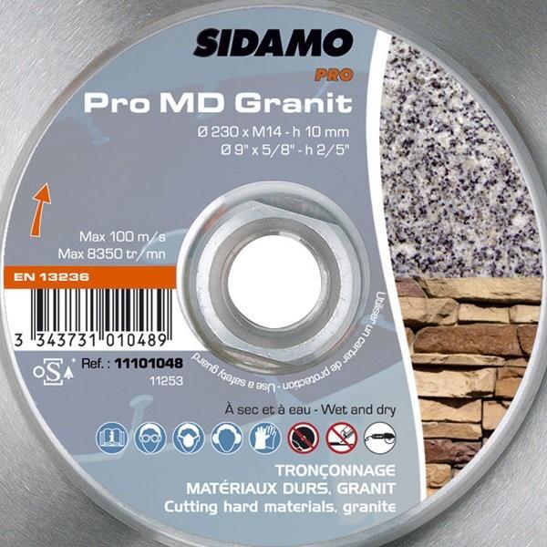 Disque diamant sidamo pro md granit tron onnage mat riaux durs - Pro btp prevoyance coups durs ...