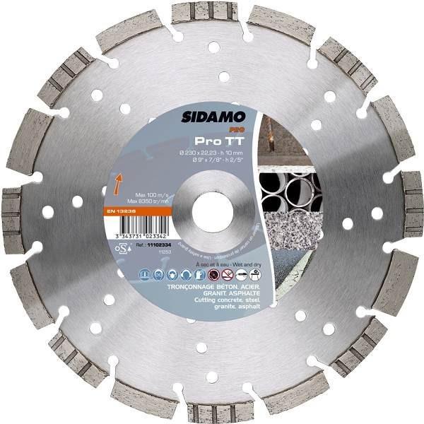 Disque diamant sidamo pro tt coupe b ton acier granit for Diamant coupe miroir