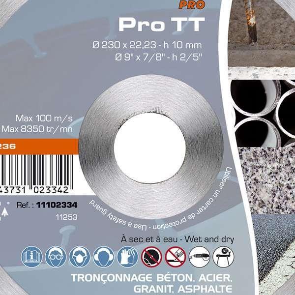 Disque diamant sidamo pro tt coupe b ton acier granit et asphalte - Pro btp prevoyance coups durs ...